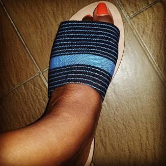 Open toe (left foot)